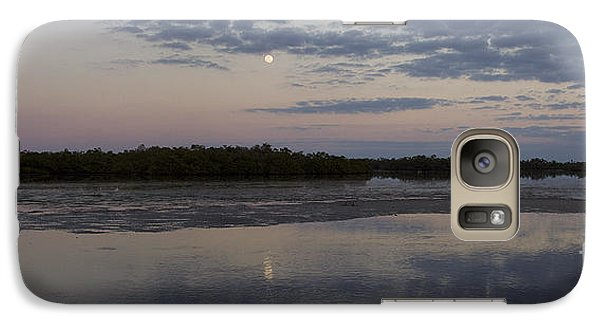Galaxy Case featuring the photograph Ding Darling And Moon - 16x42 by J L Woody Wooden