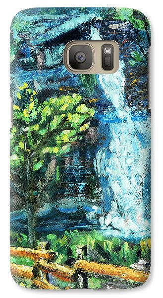 Galaxy Case featuring the painting Dingman Falls Eastern Pennsylvania by Michael Daniels