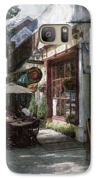 Galaxy Case featuring the photograph Dining Outside by John Rivera