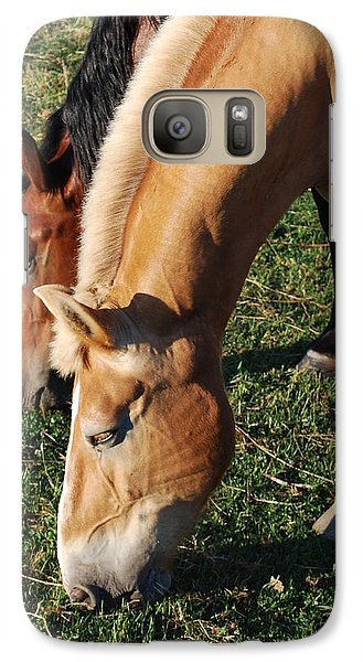Galaxy Case featuring the photograph Dinner Date by Mary Beth Landis