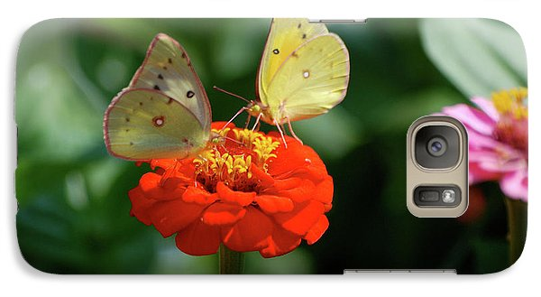 Galaxy Case featuring the photograph Dinner Table For Two Butterflies by Thomas Woolworth