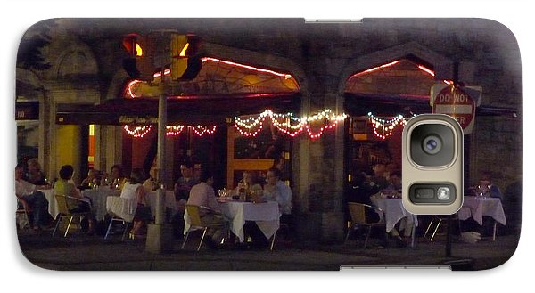 Galaxy Case featuring the photograph Dinning In The Dark by Margie Avellino
