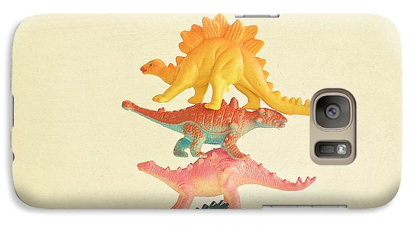 Dinosaur Antics Galaxy Case by Cassia Beck