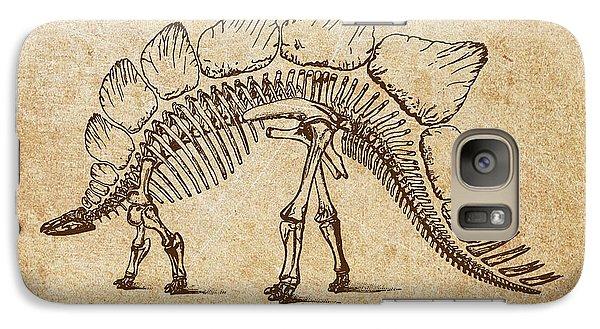 Dinosaur Stegosaurus Ungulatus Galaxy S7 Case by Aged Pixel