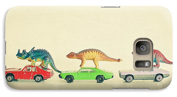 Dinosaurs Ride Cars Galaxy Case by Cassia Beck