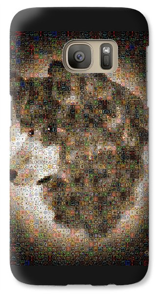Galaxy Case featuring the painting Dire Wolf Mosaic by Paula Ayers