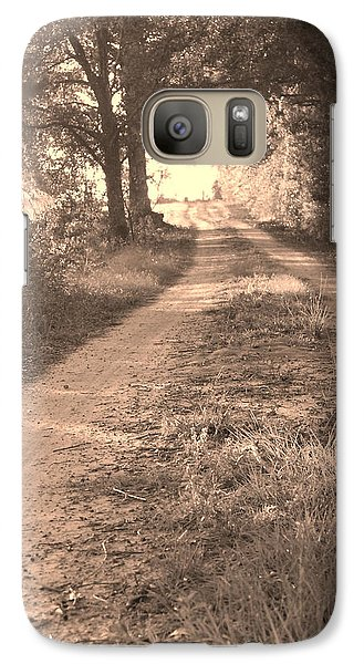 Galaxy Case featuring the photograph Dirt Road In Moultrie Georgia by Cleaster Cotton