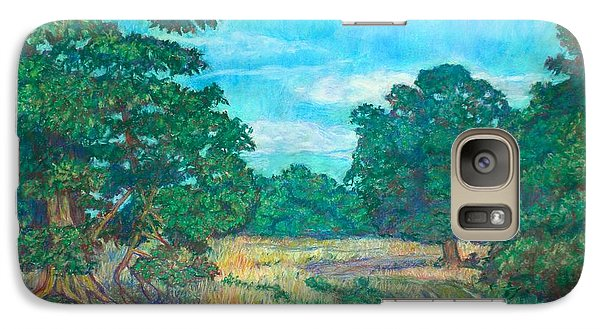 Galaxy Case featuring the painting Dirt Road Near Rock Castle Gorge by Kendall Kessler