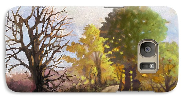 Galaxy Case featuring the painting Dirt Road To Some Place by Anthony Mwangi