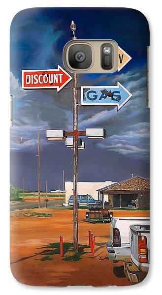 Discount Self-serv Gas Galaxy S7 Case by Karl Melton