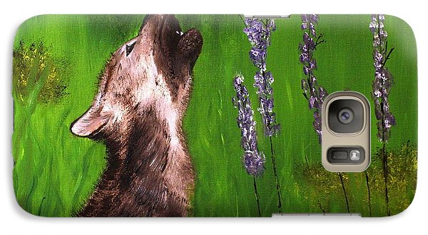 Galaxy Case featuring the painting Discovering His Voice by Bev Conover