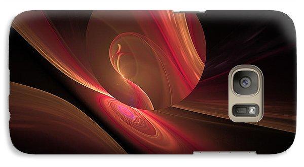 Galaxy Case featuring the digital art Disk Swirls by GJ Blackman