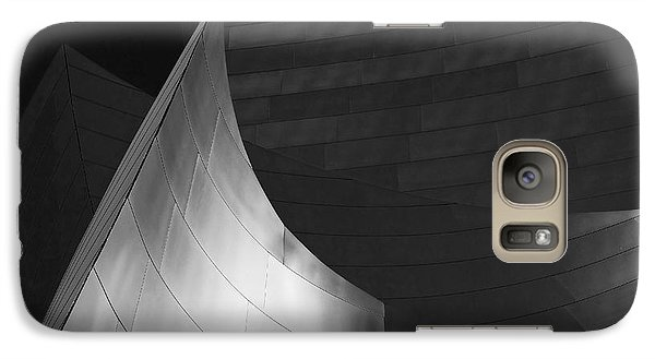 Disney Hall Abstract Black And White Galaxy S7 Case by Rona Black