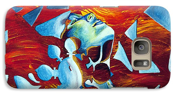 Galaxy Case featuring the painting Dissonance by Denise Deiloh