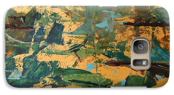 Galaxy Case featuring the painting Distant Lands Upclose by Nancy Kane Chapman