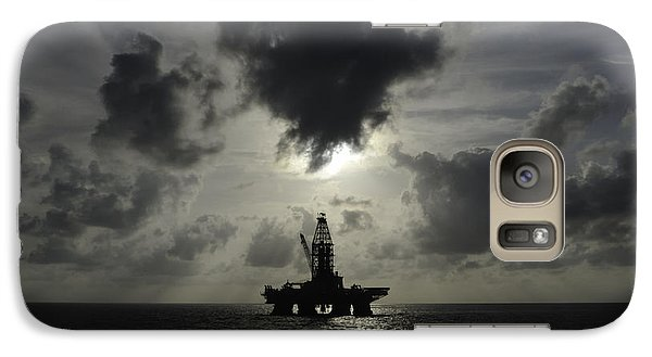 Galaxy Case featuring the photograph Distant Offshore Oil Rig by Bradford Martin