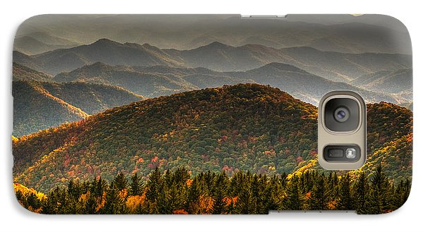 Galaxy Case featuring the photograph Distant Ridges by Serge Skiba