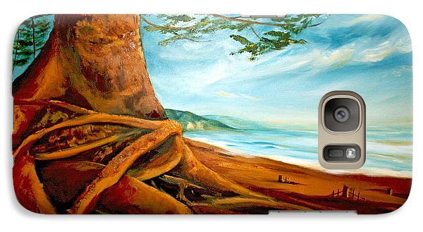 Galaxy Case featuring the painting Distant Shores Rejoice by Meaghan Troup