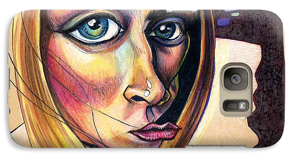 Galaxy Case featuring the drawing Distorted Beauty by John Ashton Golden