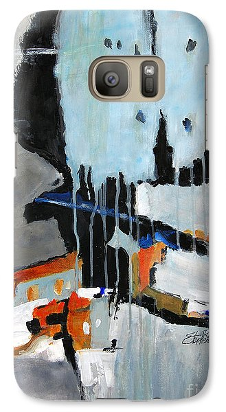 Galaxy Case featuring the painting Divergent by Ron Stephens
