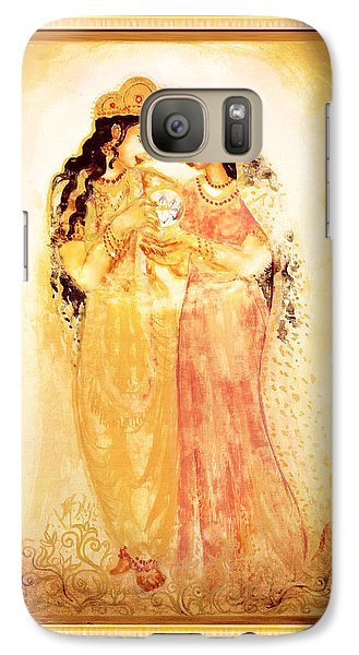 Galaxy Case featuring the mixed media Divine Love by Ananda Vdovic