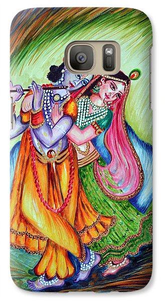 Galaxy Case featuring the painting Divine Lovers by Harsh Malik