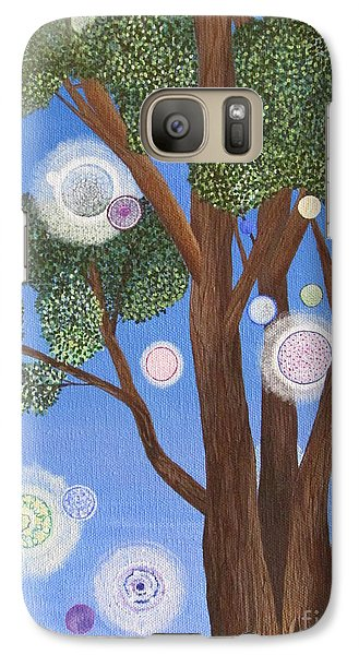 Galaxy Case featuring the painting Divine Possibilities by Cheryl Bailey