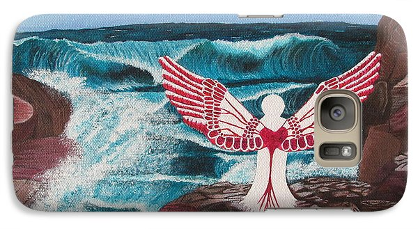 Galaxy Case featuring the painting Divine Power by Cheryl Bailey
