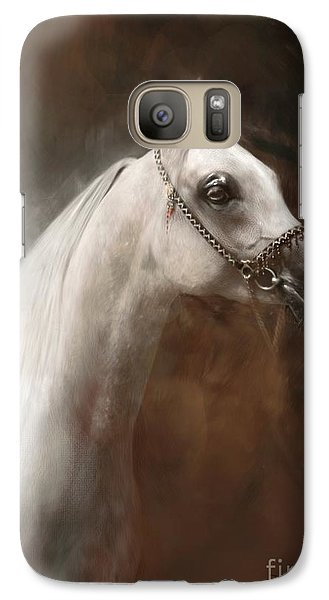 Galaxy Case featuring the painting Divine Soul by Dorota Kudyba