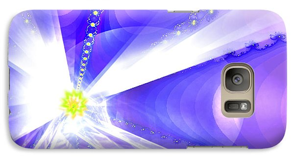 Galaxy Case featuring the digital art Divine Vision by Ute Posegga-Rudel