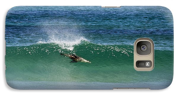 Kangaroo Galaxy S7 Case - Diving Beneath The Curl by Mike Dawson
