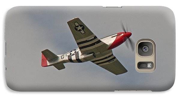 Galaxy Case featuring the photograph Dixie Wing P-51 Red Nose by John Black