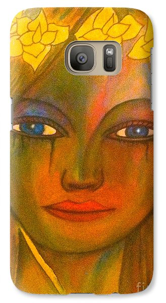 Galaxy Case featuring the painting Do Not Cry Painting By Saribelle Rodriguez by Saribelle Rodriguez
