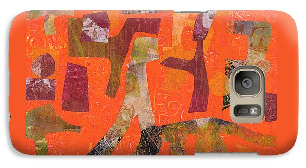 Galaxy Case featuring the mixed media Do Not Feed The Dinosaurs by Catherine Redmayne