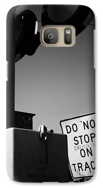 Galaxy Case featuring the photograph Do Not Stop Dancing On Tracks by Jason Politte