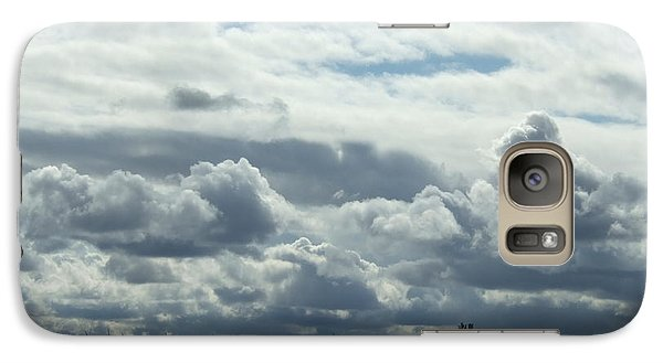 Galaxy Case featuring the photograph Do You See What I See In The Clouds. by Deborah DeLaBarre