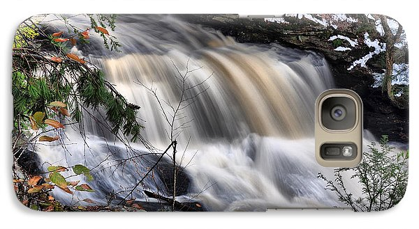 Galaxy Case featuring the photograph Doane's Lower Falls In Central Mass. by Mitchell R Grosky