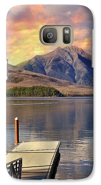 Galaxy Case featuring the photograph Dock On Lake Mcdonald by Marty Koch