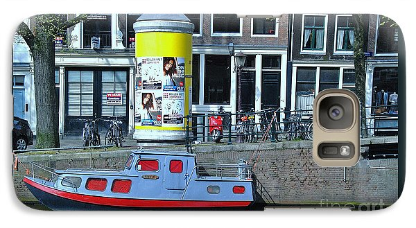 Galaxy Case featuring the photograph Docked In Amsterdam by Allen Beatty