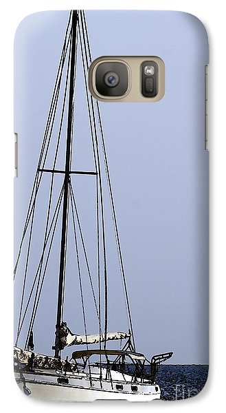 Galaxy Case featuring the photograph Docked At Bay by Lilliana Mendez