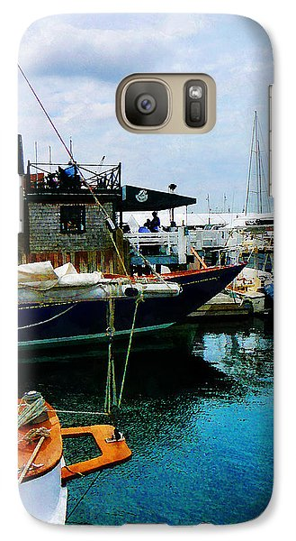 Galaxy Case featuring the photograph Docked Boats In Newport Ri by Susan Savad