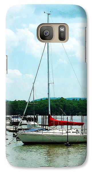 Galaxy Case featuring the photograph Docked On The Hudson River by Susan Savad