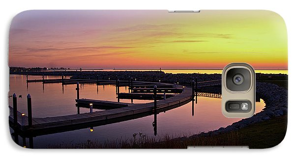 Galaxy Case featuring the photograph Docks At Sunrise by Jonah  Anderson
