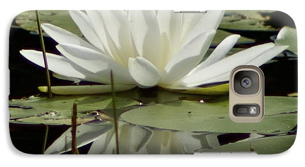 Galaxy Case featuring the photograph Dockside Lily by Alice Mainville