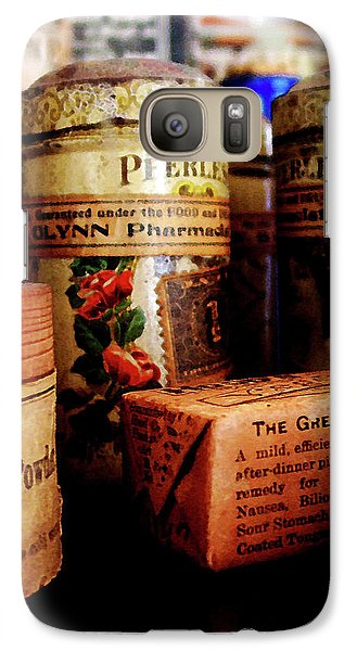 Galaxy Case featuring the photograph Doctor - Liver Pills In General Store by Susan Savad