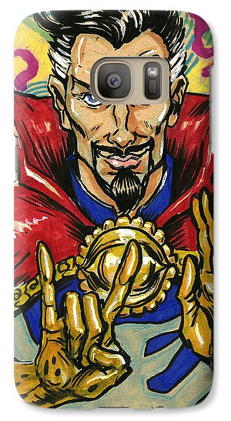 Galaxy Case featuring the drawing Doctor Strange by John Ashton Golden