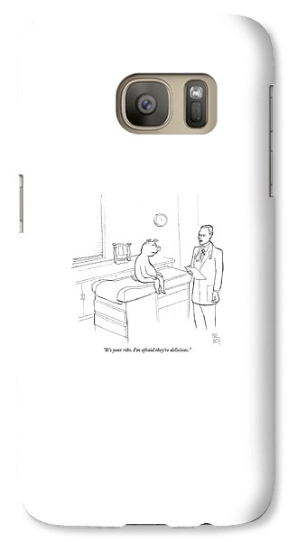 Pig Galaxy S7 Case - Doctor To Pig by Paul Noth