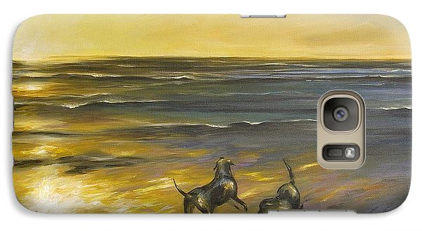 Galaxy Case featuring the painting Dog Beach by Dina Dargo