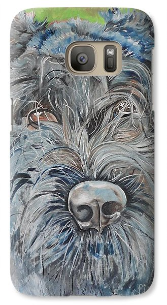 Galaxy Case featuring the painting Dog Of Flanders The Bouvier by PainterArtist FIN