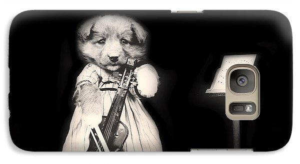 Violin Galaxy S7 Case - Dog Serenade by Mountain Dreams